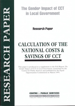 National Costs Of Cct